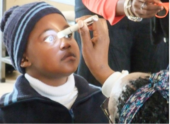 Checking a child's eye