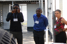 Participants during RAAB protocol training: pinhole examination