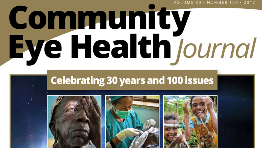 Celebrating 100 issues and 30 years of the Community Eye Health Journal