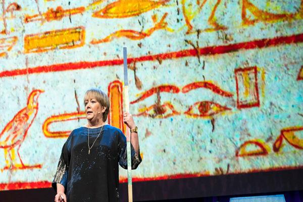 Caroline Harper at the TED talk