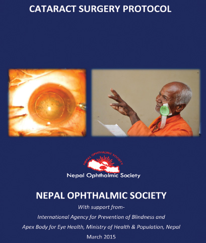 Cover, Cataract Surgical Protocol