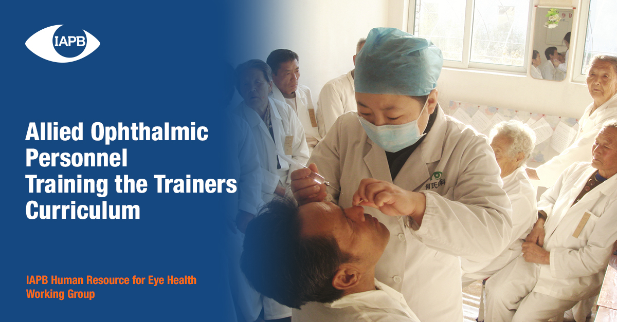 Cover of Allied Ophthalmic Personnel Training of trainers curriculum