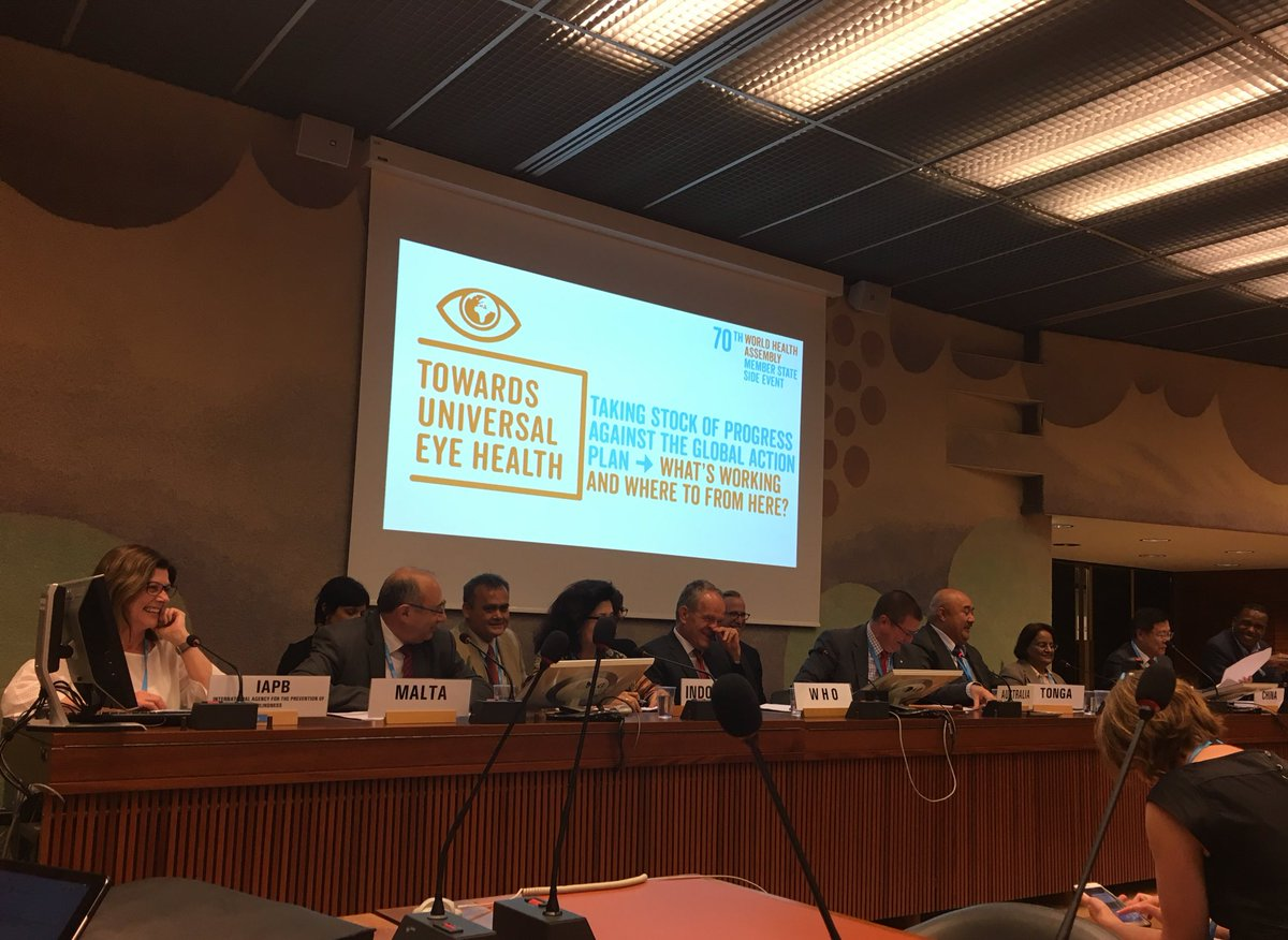 WHA 70 Side-Event on Universal Eye Health, Geneva