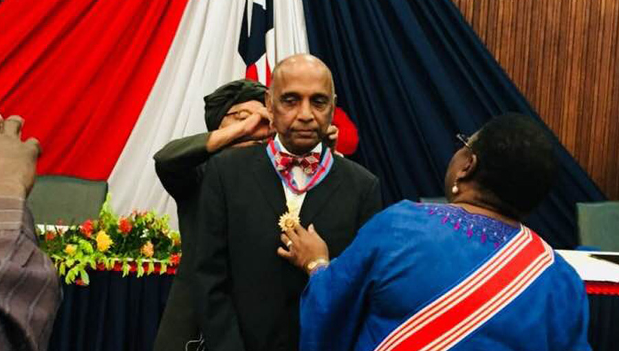 Dr Gullapalli N Rao inducted into the Order of the Star of Africa, by the Liberian President Ellen Johnson Sirleaf