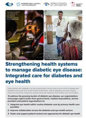 Strengthening health systems to manage diabetic eye disease: Integrated care for diabetes and eye health cover