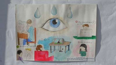 Students' drawings on eye care