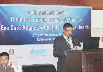 South- East Asia Eye Health Expert's meeting in Kathmandu
