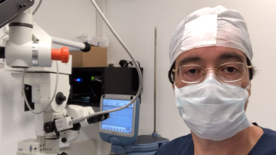Dr lerner in scrubs/ Story: Glaucoma in Latin America