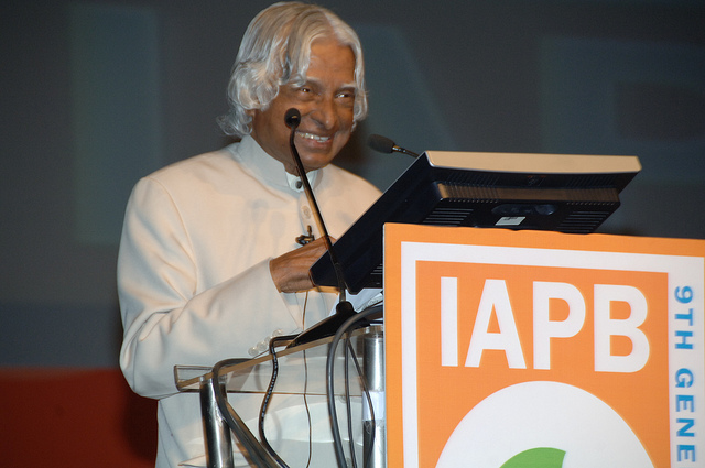 Dr APJ Abdul Kalam speaking at 9GA