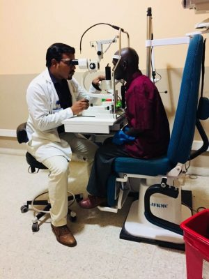 Eye Examination in JFKMC Monrovia