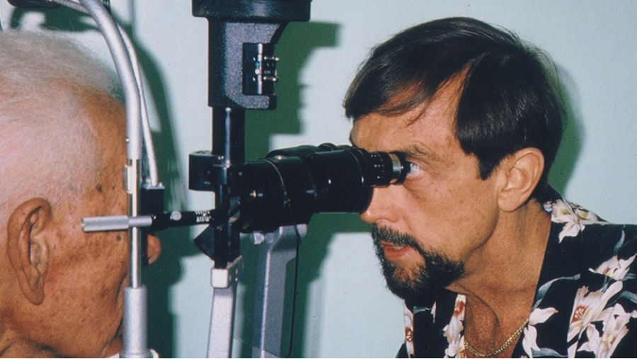 Eye exam/ Story: Improving Vision around the world: Introducing the Hawaiian Eye Foundation