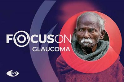 Old man; Focus On Glaucoma campaign image
