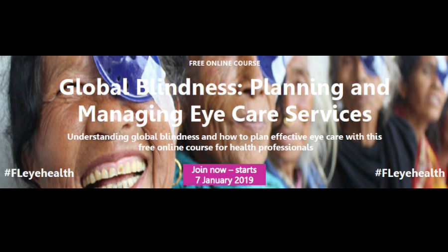 GL Course/ Story: ICEH's free online course on Global Blindness starts Jan 2019