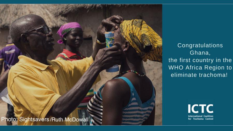Ghana eliminates trachoma/ Image Courtesy: ICTC