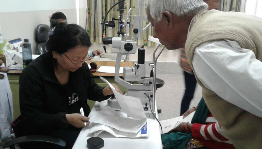 Glaucoma awareness activities at Nepal Eye Hospital