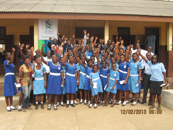 Group picture after the screening exercise at Bishop Girls School