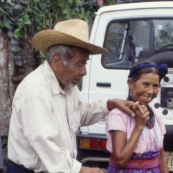 An old man going for his dosage in Guatemala