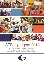IAPB Highlights 2013 cover