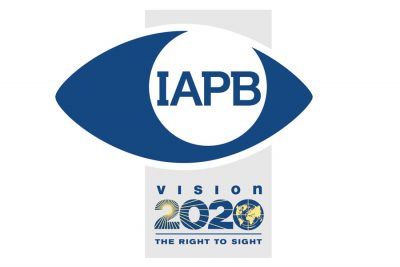 IAPB VISION 2020 logo lockup