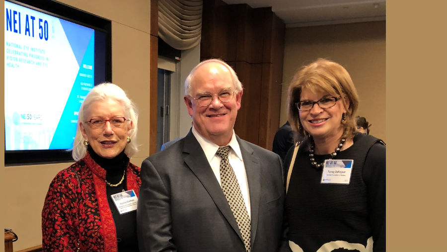 Dr. Sieving is pictured with Victoria Sheffield, President & CEO of the International Eye Foundation, and Torrey deKeyser, Chair of the Board of Directors of Prevent Blindness America, both IAPB members.