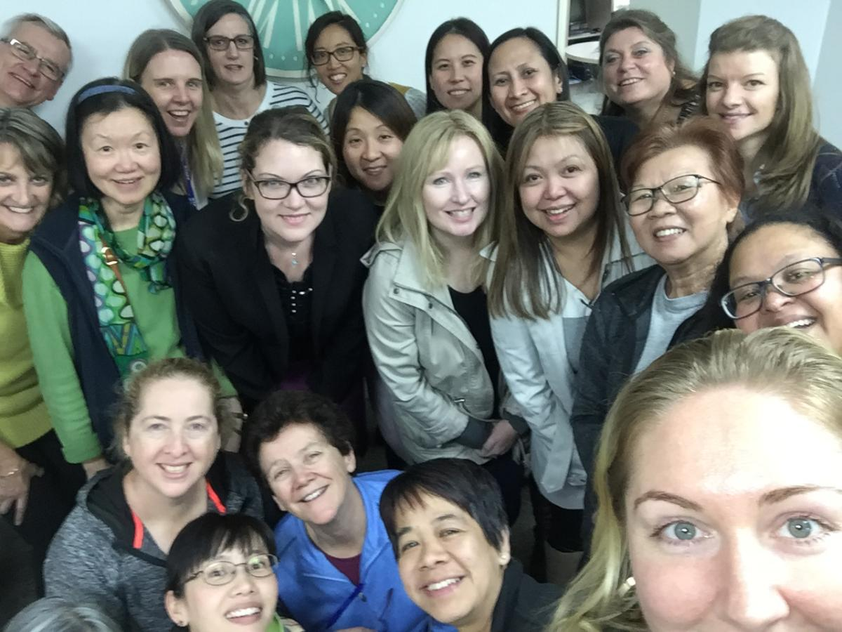 selfie from the Australian Ophthalmic Nurses Association-Victoria Clinical Meeting