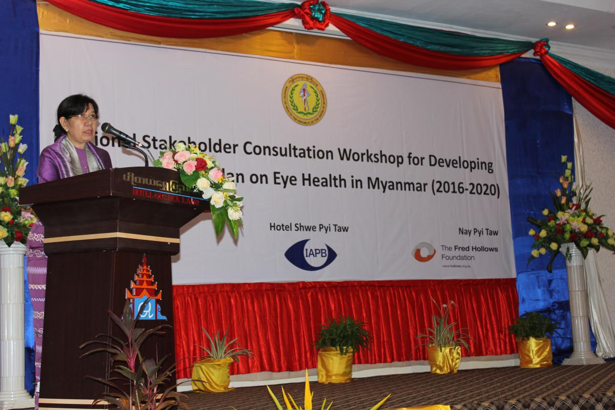 Deputy Minister of Health, Myanmar Her Excellency Dr Daw Thein Thein