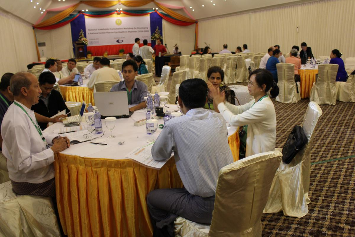 Group sessions in Myanmar workshop