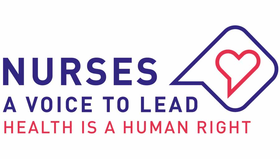 Redefining Nursing in Life and in Death. International Nursing Day logo