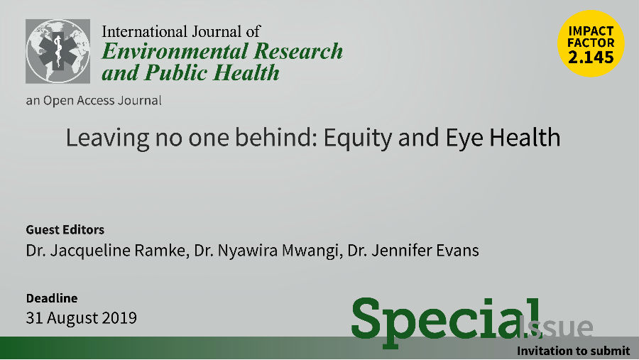 Invitation for Gender Equity and Eye health