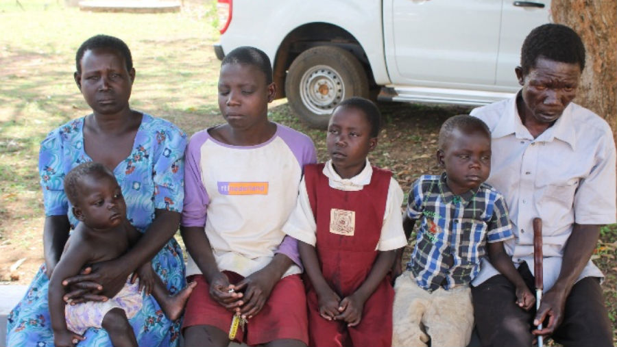 Egalu Ivan with his Family/ Story: Screening in schools for the visually impaired