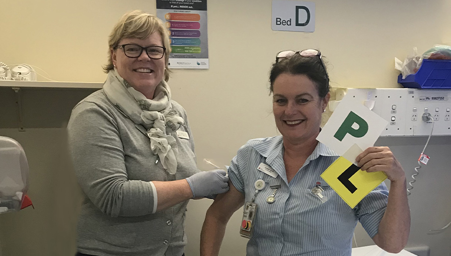Jane Treloggen and DR vaccination