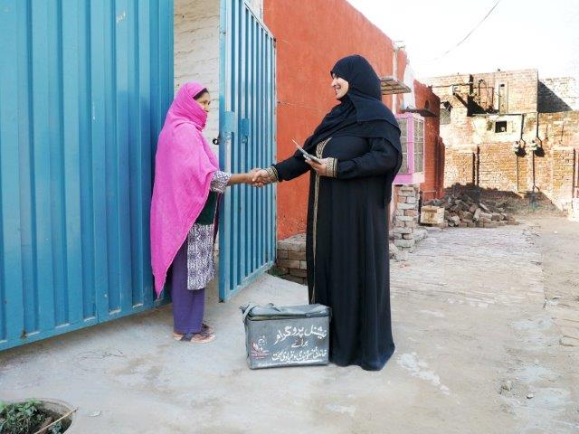 Lady health worker in the community