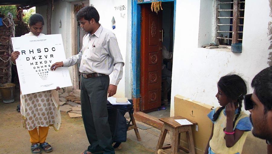 Community screening by LVPEI; image courtesy Community Eye Health Journal