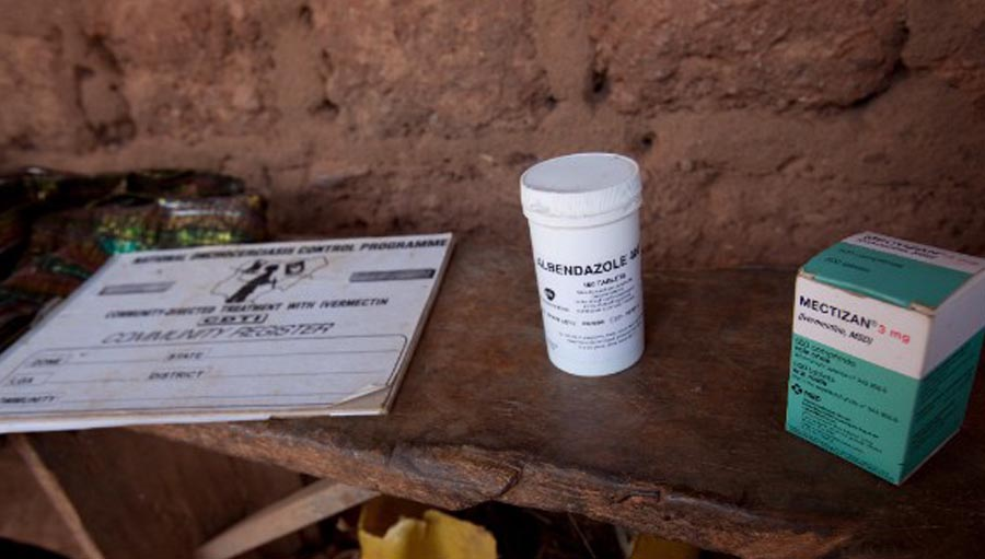 New Fund to Eliminate Onchocerciasis. Albendazole and Mectizan