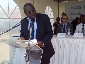 Minister of Health Giving his speech; Sightsavers Zambia