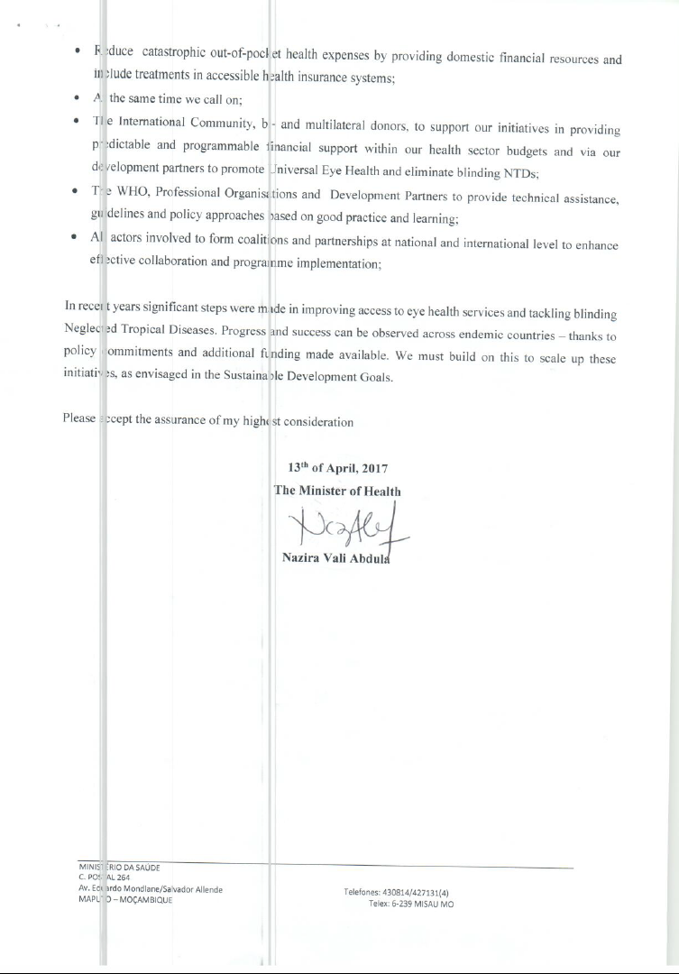 Screen-shot of Mozambique agreement
