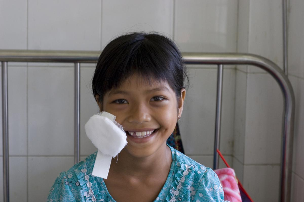 My Linh smiling after an operation, Vietnam, FHF