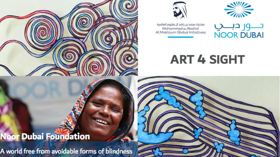 Noor Dubai Foundation holds Art 4 Sight auction /Image Art 4 Sight poster