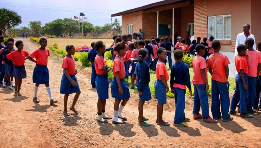Children at a school; Our Children's Vision