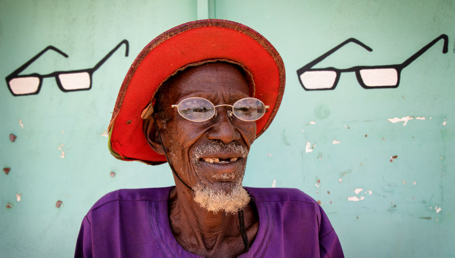 Story: Cataract and mental health Mission For Vision, Image: Old man with spectacles