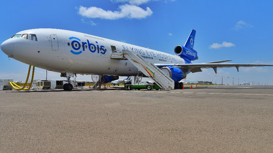 Story: Orbis Flying Eye Hospital Project Celebrates 20 Years of Eye Care in Ethiopia Image: Orbis Flying Eye Hospital/ Photo Geoff Oliver Bugbee