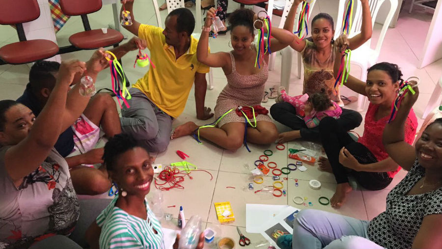 Zika and blindness, Image: Parent group developing toys to stimulate their babies