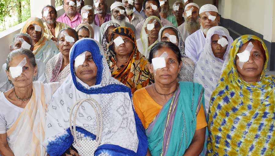Photo: Mahmudul Islam Duke; Patients after cataract surgery