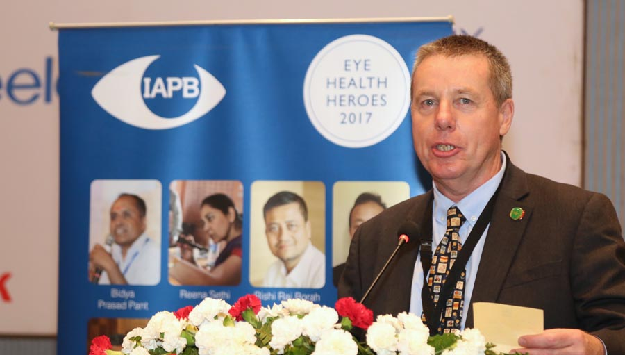 Peter Ackland, IAPB CEO, Council 2017 at Kathmandu