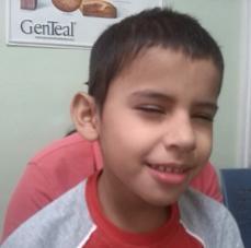 squinting boy