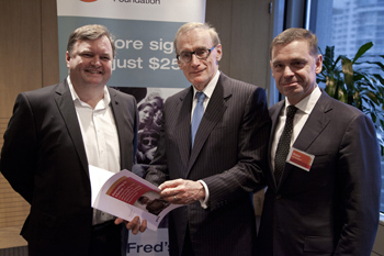 PWC report launch, Bob Carr, Australian foreign minister
