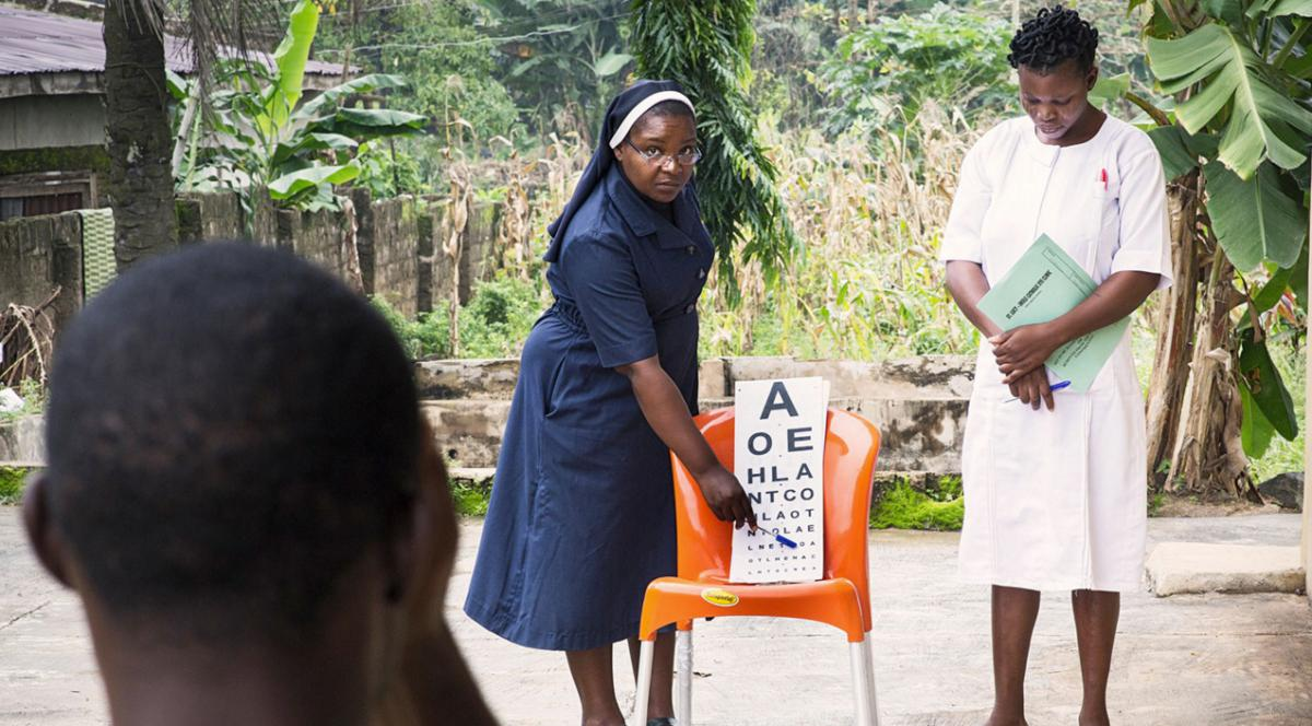 SiB's Urban Eye Care Programme in Nigeria, Picture by Sam Faulkner