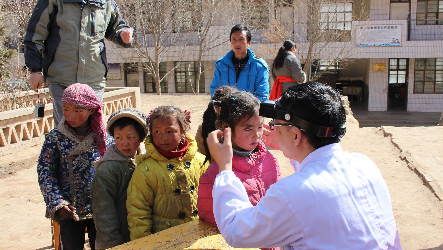 Qinghai school screening