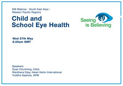 SiB Webinar – Child and School Eye Health (Africa Region)