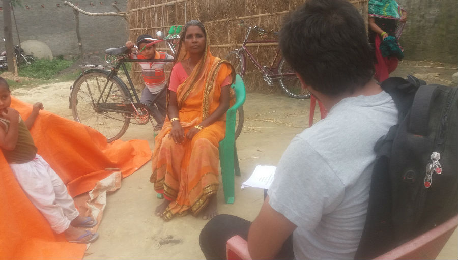 Recording responses/ Story: Finding Knowledge, Attitude and Practice of eye health in Nepal